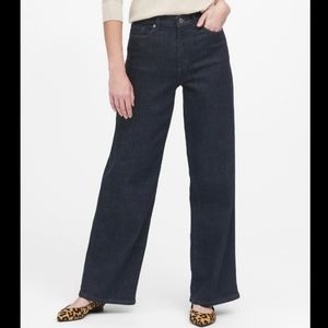 BANANA REPUBLIC High Rise Wide Leg Jeans